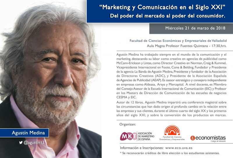 Conferencia Agustín Medina 800x543 - Conferencia en Valladolid el 21 de marzo
