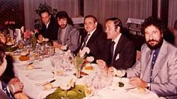 Con José Sacristán en Tenerife durante la presentación de la campaña de Filomatic a los vendedores de la compañía .