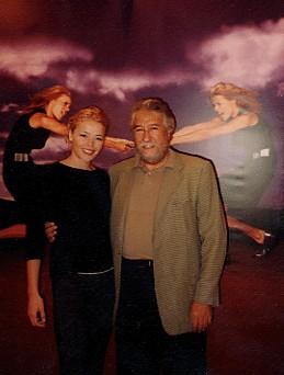 Con la actriz Inma del Moral, protagonista de un anuncio para Martinelli.