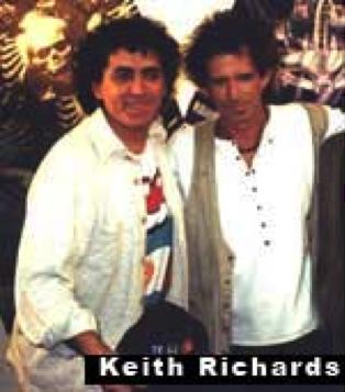 Mariscal y Keith Richards